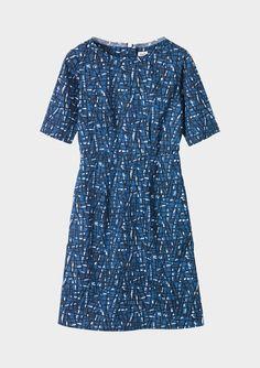 hatch print dress