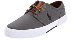 Synthetic sole Shaft measures approximately low-top from arch Lace-up sneaker with metal eyelets featuring stripe at midsole and embroidered logo at quarterpanel Best Sneakers, Casual Sneakers, Sneakers Fashion, Ralph Lauren Mens Shoes, Polo Ralph Lauren, Leopard Sneakers, Leather Sneakers, Best Nike Running Shoes, Minimalist Sneakers