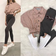 Girls Fashion Clothes, Tween Fashion, Teen Fashion Outfits, Look Fashion, Outfits For Teens, Korean Fashion, Clothes For Women, Womens Fashion, Cute Casual Outfits