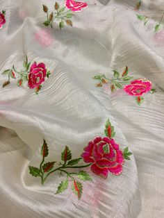 Embroidery Suits Punjabi, Hand Embroidery Dress, Embroidery Fashion, Silk Ribbon Embroidery, Border Embroidery Designs, Embroidery Suits Design, Embroidery Motifs, Machine Embroidery Designs, Kamiz
