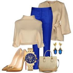 Classy Blue by stylebystevinkyle on Polyvore featuring Brunello Cucinelli, P.A.R.O.S.H., STELLA McCARTNEY, Christian Louboutin, Dolce&Gabbana and Michele