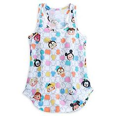 Disney ''Tsum Tsum'' Tank Tee for Women   Disney StoreDisney ''Tsum Tsum'' Tank Tee for Women - Feel good all day long in the fashionable fun of our Disney ''Tsum Tsum'' Tank Tee made of soft, sheer jersey knit printed with an allover ''Tsum Tsum'' themed pattern.