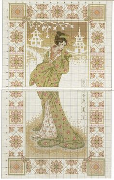 0 point de croix  geisha beauty - cross stitch 2