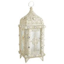Pierced Jewel Lantern - White