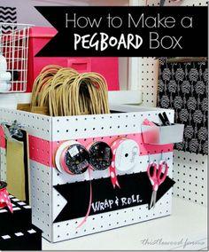 'how to make a pegboard box...!' (via tatertotsandjello.com)
