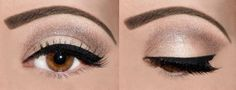 Cat eyes with natural browns, gorgeous!