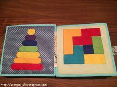 Es gibt eine weitere Doppelseite aus dem Quiet Book. Hier dreht sich alles um das Thema Formen, Farben und man kann auch ein wenig puzzeln. ;-) Die Ideen stammen wieder aus dem Internet, hier hatte…