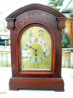 ANTIQUE JUNGHANS WESTMINSTER CHIME MANTLE CLOCK!!!