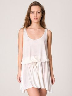 #American Apparel #Women's American Apparel - Drawstring Tank Dress. Find more detail on DealsAlbum.com.