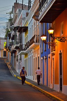 ☀  Puerto Rico ☀ Evening on the streets of San Juan, Puerto Rico