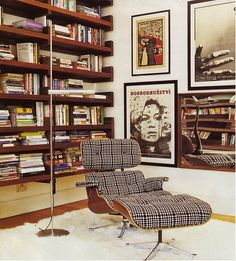 Reading nook | LUV DECOR: Clássicos do Design - Lounge cadeira e pufe por Charles e Ray Eames
