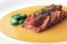 Nobu's seared tuna with yuzu miso dressing