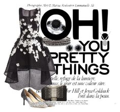 """""""Pretty things"""" by sahrish-hossain ❤ liked on Polyvore featuring Chico's, Anne Sisteron, Chanel, Jimmy Choo and Jovani"""