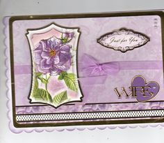 Hunkydory flower card for wife.