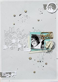Totalement Scrap: clean free layout, scrapbook page