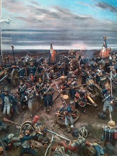 Diorama: French last stand at Waterloo. (Michigan Toy Soldiers and Historical Miniatures:Napoleonic Dioramas)