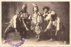 Momotaro with his friends postcard, 1911