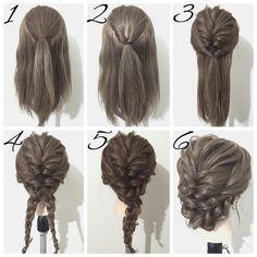 Me gusta, 15 comentarios – ヘアアレンジ*YUYA* (Julia Peterson.ha – damenfrisuren Me gusta, 15 comentarios - ヘアアレンジ*YUYA* (Julia Peterson. Work Hairstyles, Pretty Hairstyles, Braided Hairstyles, Hairstyles For Medium Length Hair, Easy Casual Hairstyles, Simple Hairdos, Easy Wedding Guest Hairstyles, Simple Braids, Braided Chignon