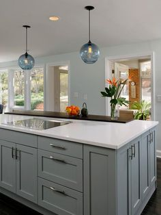 - Kitchen Cabinet Color Options: Ideas From Top Designers on HGTV...love the outdoor element in this