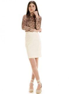 camisa social elegante feminina animal print principessa camila estampada look completo