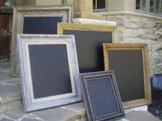 Repurposed chalkboard mirrors