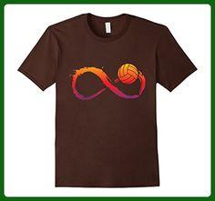 Mens Love Volleyball T-shirt Small Brown - Sports shirts (*Amazon Partner-Link)