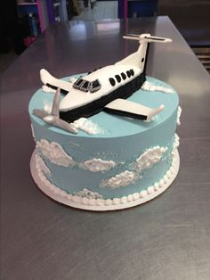 Airplane grooms cake for a pilot. Wild Flour Bakery.