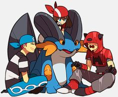 If sapphire grew up with team aqua or team magma