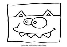 Monster Colouring Page 23