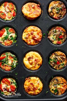 14 Keto Muffins You Won't Believe You Get to Eat Mini Frittata Muffi. 14 Keto Muffins You Won't Believe You Get to Eat Mini Frittata Muffins Recipe Frittata Muffins, Frittata Recipes, Mini Frittata, Crustless Mini Quiche, Omlet Muffins, Mini Quiche Recipes, Mini Quiches, Flatbread Recipes, Savory Breakfast