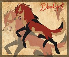 Anime Wolf Blood Spill   Gift-art Kay Fedewas Bloodspill by StanHoneyThief