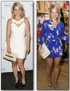 Candace Cameron Bure (Full House's very own DJ Tanner) accessorizing with #360 Beige Boa!