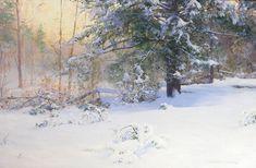 Gurney Journey  blogpost Winter scene by Walter Launt Palmer (1854-1932)