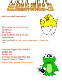 God Made Me and All of You Song Printable