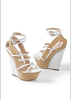 Wedge Sandals with Ankle Wrap fashion shoes white summer fashion sandal wedges ankle wrap Strappy Wedges, Shoes Heels Wedges, Wedge Sandals, White Wedges, Sandal Wedges, Pink Wedges, Wedge Boots, Hot Shoes, Women's Shoes