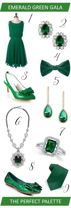 {wedding wardrobe}: emerald green gala! #coloroftheyear2013 http://www.theperfectpalette.com/2013/01/wedding-wardrobe-emerald-green-gala.html#