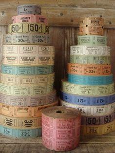 100 Vintage and Antique Tickets Pretty and Soft by reginasstudio