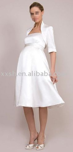 short pregnant wedding dresses
