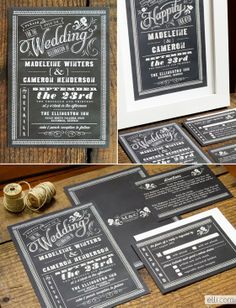 wedding invitation black & white retro 50´s