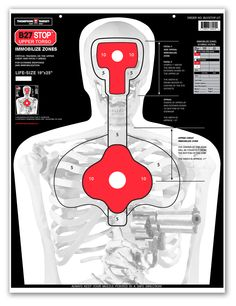 B27STOP-UT Silhouette Training Pistol Shooting Targets