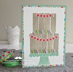 Stampin' Up UK Demonstrator Sarah-Jane Rae Cards and a Cuppa blog: Kit Kat Cake with Build a Birthday by Stampin' Up!