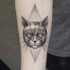 Geometric Wildlife Black and White Tattoos – Fubiz Media