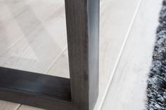 GENESIS tömör akácfa étkezőasztal 180 cm - antracit