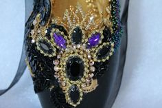 Check out this item in my Etsy shop https://www.etsy.com/listing/488219530/decorated-pointe-shoe-swan-lakeblack
