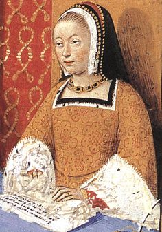 Detail of Anne of Brittany Epistle 5 - the only woman ever twice Queen of France
