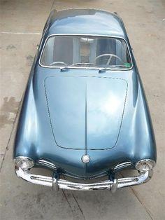 1959 Dolphin Blue VW Karmann Ghia #Cars #Volkswagon