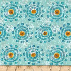 Sunnyside Sunspots Turquoise Fabric