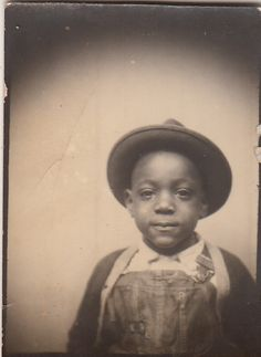 +~ Vintage Photo Booth Picture ~+  Little man