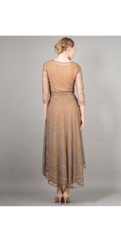Nataya 40163 Downton Abbey Tea Party Gown Antique Silver