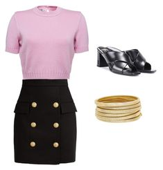 """Untitled #6"" by ancaask on Polyvore featuring Balmain, Yves Saint Laurent and Bagutta"